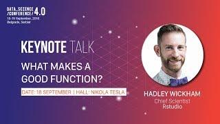 Download [DSC 4.0] What Makes a Good Function - Hadley Wickham keynote Video