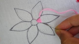 Download hand embroidery latest flower design ,easy modern flower embroidery Video