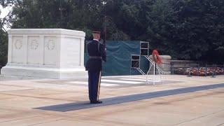 Download Changing of the Guard at the Tomb of the Unknown Soldier at Arlington National Cemetery. Video