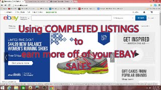 Download NEW TWIST on using EBAY'S COMPLETED LISTINGS to help you MAKE MONEY on Ebay Video