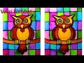 Download mozaik burung hantu untuk anak anak dengan crayon versi lambat Video