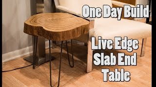 Download One Day Build: Live Edge Slab End Table Video