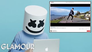Download Marshmello Watches Fan Covers On YouTube | Glamour Video