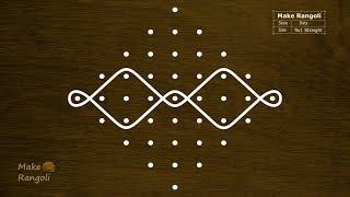 Download Sikku Kolam with 9x1 dots | Melika Muggulu with 9 dots | Rangoli with Dots | Make Rangoli Video