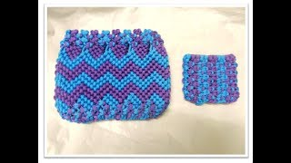 Download MACRAME ″ ZIGZAG ″ AND ″COIN ″ PURSE TUTORIAL/EASY PURSE Video