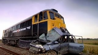 Download Car hit by train | Safety Message (HQ) | Top Gear | Series 9 | BBC Video