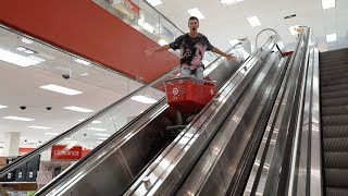 Download SHOPPING CART SURFING ON ESCALATORS AT TARGET Video