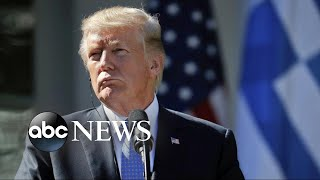 Download Trump defends claim about past presidents' actions with fallen troops Video
