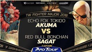 Download Echo Fox Tokido (Akuma) vs Red Bull Bonchan (Sagat) - TW Fighter Major 2018 Top 16 - SFV - CPT 2018 Video