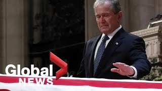 Download Bush funeral: George W. Bush's full eulogy to his father Video