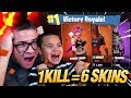 Download 1 KILL = 6 FREE SKINS FOR MY 9 YEAR OLD LITTLE BROTHER! 9 YEAR OLD PLAYS SOLO FORTNITE BATTLE ROYALE Video