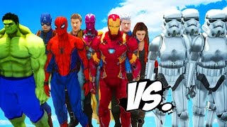 Download THE AVENGERS VS STORMTROOPERS ARMY - EPIC BATTLE Video