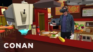 Download Conan Visits YouTube's VR Lab - CONAN on TBS Video