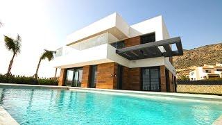 Download Качественная Hi-Tech вилла в Испании в Сьерра Кортине, недвижимость в Испании 2017 года в Бенидорме Video
