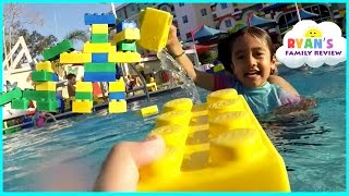 Download LegoLand Hotel Swimming Pool Tour! Kids Playtime at the Pool Family Fun Vacation Video