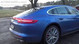 Download [4k] NEW Porsche Panamera Turbo with Sports exhaust system testdrive Video