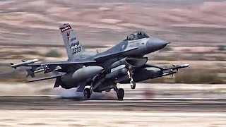 Download F-16 Fighter Jets Preflight + Takeoff/Landing At Nellis AFB Video
