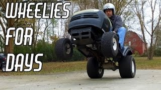 Download Racing Mower Build Pt. 3: Wheelies & Drag Racing Video