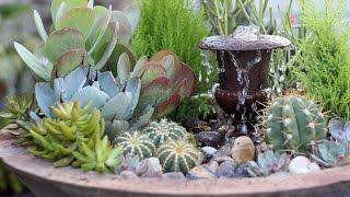 Download Succulent Fountain Arrangement - Triple Urn Challenge November Video