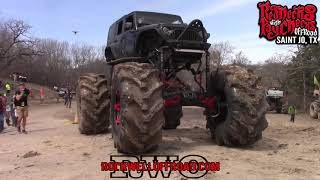 Download BIG MUD TRUCKS HIT THE 2 STAGE BOUNTY HOLE!!! Video