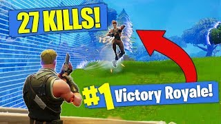 Download *NEW KILL RECORD* 27 SOLO Kills In Fortnite - Battle Royale!! Video