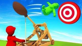 Download HIT TARGET = WIN GAME! (Human Fall Flat) Video