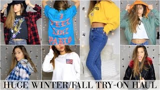 Download HUGE FALL + WINTER TRY-ON HAUL! Topshop, Urban Outfitters, Pacsun, Pablo Pop-Up & more! Video