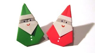 Download Christmas Origami Santa Claus - Easy origami - How to make an easy origami Santa Claus Video