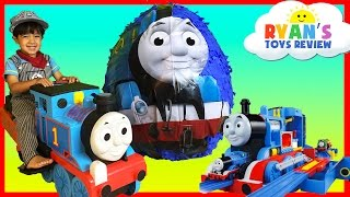 Download GIANT EGG SURPRISE OPENING Thomas and Friends Toy Trains Disney Cars Toys Kids Video Ryan ToysReview Video