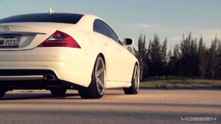 Download Mercedes Benz CLS500 on 20″ Vossen VVS-CV3 Concave Wheels / Rims Video