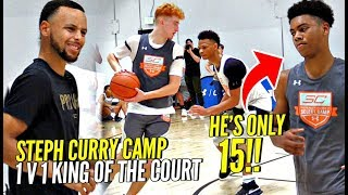 Download 1 v 1 King of The Court STEPH CURRY Camp Edition!! 15 Year Old SHOCKS Steph!! Nico Mannion SNAPS!! Video