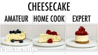 Download 4 Levels of Cheesecake: Amateur to Food Scientist   Epicurious Video