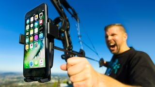 Download Mounting iPhone 7 to Bow & Arrow!! Ultimate Aerial 4K Camera? Video