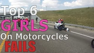Download Top 6 Girl On Motorcycle FAILS 2017 Compilation Tandem Bikers Wheelie FAIL 2up Bike Stunts Videos Video