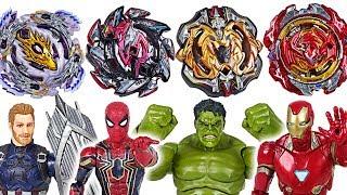 Download Beyblade super zetsu B-110, 113, 115, 117 appeared! Marvel Avengers Hulk vs Thanos - DuDuPopTOY Video
