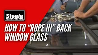 Download How to replace back window glass seal with cord Video