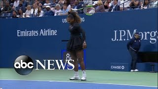 Download Shocking US Open final as Serena Williams loses, breaks her racket Video
