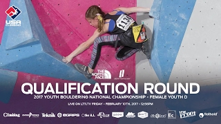Download Female Youth D • Qualifiers • 2017 Youth Bouldering Nationals • 2/10/17 12:56 PM MST Video