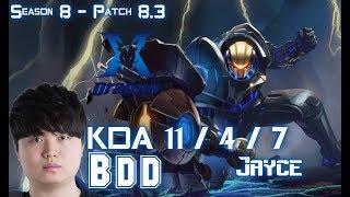 Download KZ BDD JAYCE vs GALIO Mid - Patch 8.3 KR Ranked Video