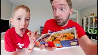 Download FATHER SON PLAY BEAN BOOZLED! / Jelly Bean Taste Test! Video