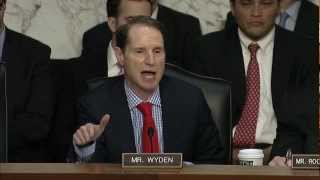 Download DNI Clapper tells Wyden the NSA does not collect data on millions of Americans Video