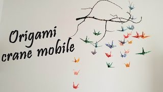 Download Origami - Crane Mobile Tutorial | DIY Room Decor Video