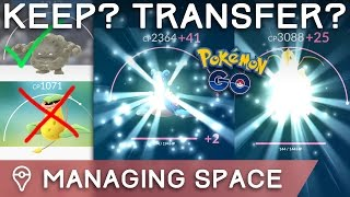 Download WHICH POKÉMON SHOULD I KEEP/TRANSFER/POWER UP? +BEST POKÉMON FOR TRAINING GYMS Video