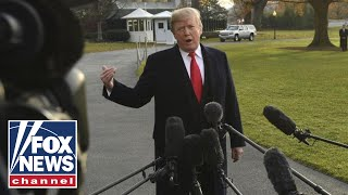 Download Trump speaks to reporters ahead of trip to Florida with Rosenstein Video