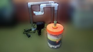 Download How to build DIY external filter from plastic jar and submersible pump Video