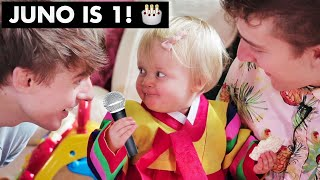 Download Juno's 1st Birthday!!🎂 Baby Hanbok and Korean Style Party for the FIRST TIME!! ~ Cuteness Overload ~ Video