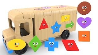 Download Learn Shapes with Wooden Truck Toy - Colors and Shapes Videos Collection for Children Video