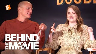 Download Emma Stone & Woody Harrelson Talk Partying and Swap Jokes | Zombieland: Double Tap Interview Video