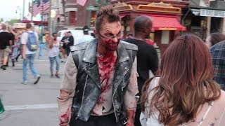 Download They Transformed Me Into A Scare Actor At Halloween Horror Nights For A Night! | Vamp 85 Video