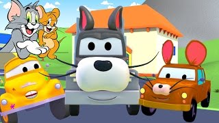 Download Tom The Tow Truck's Paint Shop: Tom & Jerry | Truck cartoons for kids Video